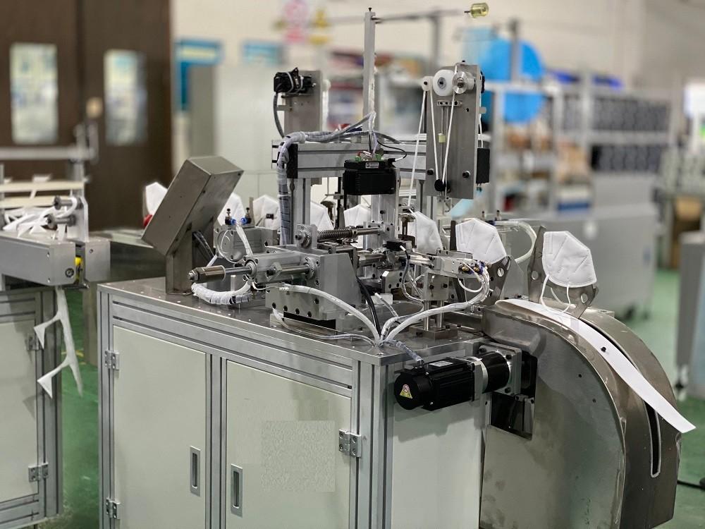 HC-5035X 骑马式KN95口罩点耳机 耳带自动点焊机