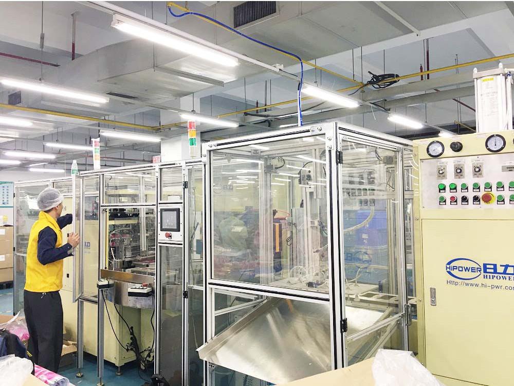 全自动吸塑包装机:自动拉膜切片+高频焊接+冲飞机孔+裁切机