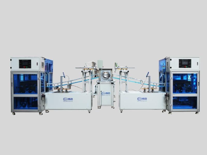 全自动圆筒成型机+卷边机生产线